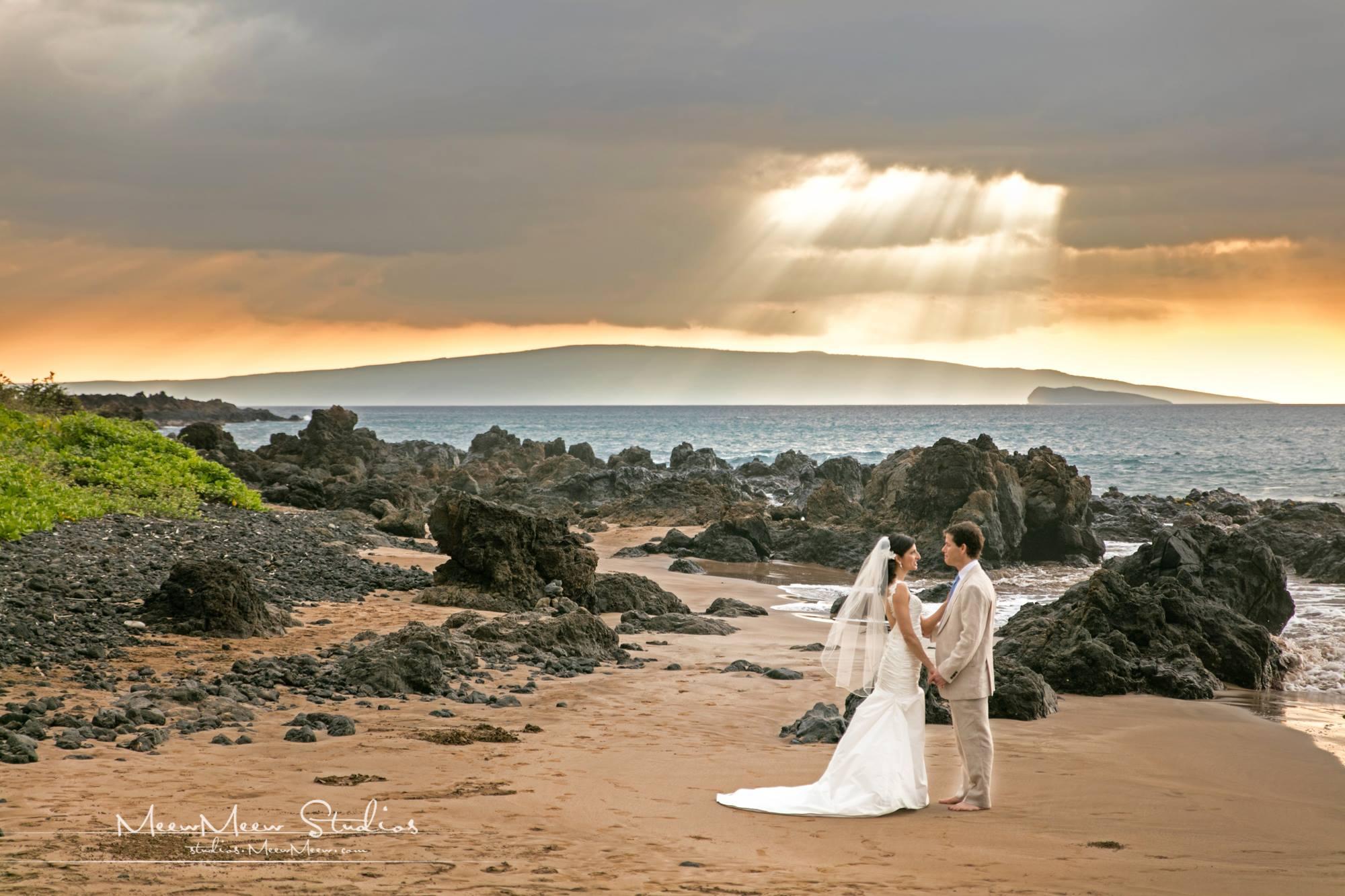 Maui Beach Wedding: Julie & John