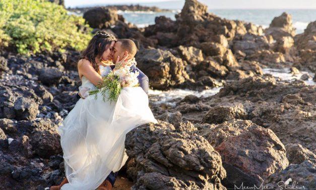 Intimate Maui Beach Wedding of Destinee + Wesley