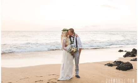 Beach Wedding Elopement in Maui: Chae + Carson