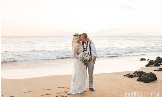 Beach Wedding Elopement in Maui: Chae + Carson