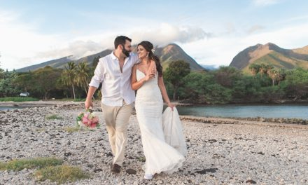 Blush Wedding at Olowalu Plantation House