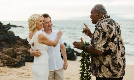 Intimate Maui Beach Wedding: Kristi + Len