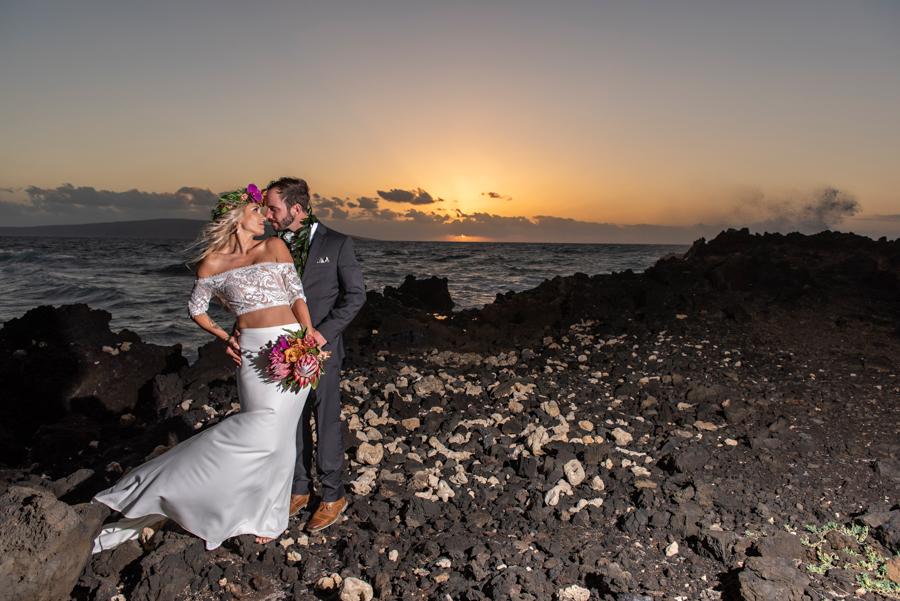 Boho Tropical Maui Wedding at the Kukahiko Estate