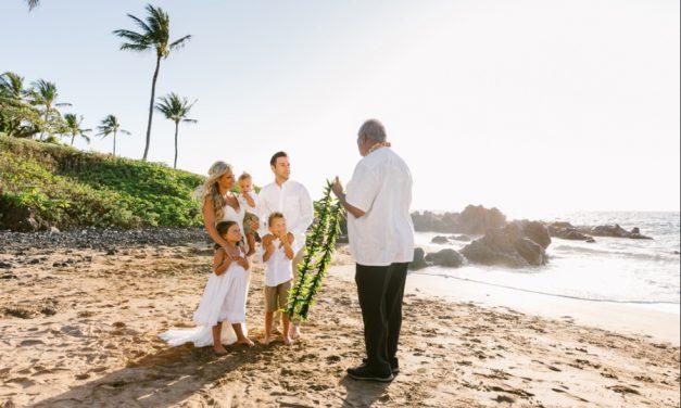 Beach Vow Renewal on Maui