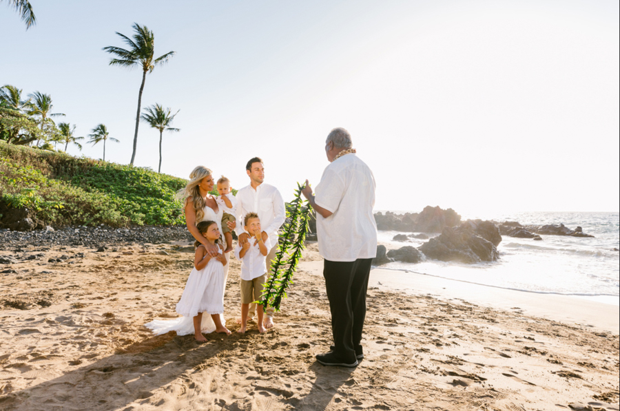Beach Vow Renewal On Maui Makena Weddings