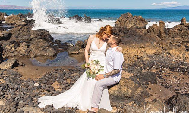 Morning Beach Wedding on Maui