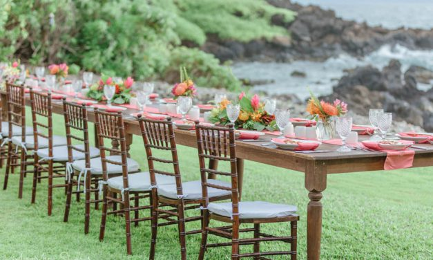 Living Coral Wedding at the Kukahiko Estate