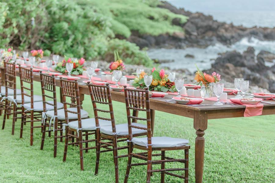 Living Coral Wedding at the Kukahiko Estate