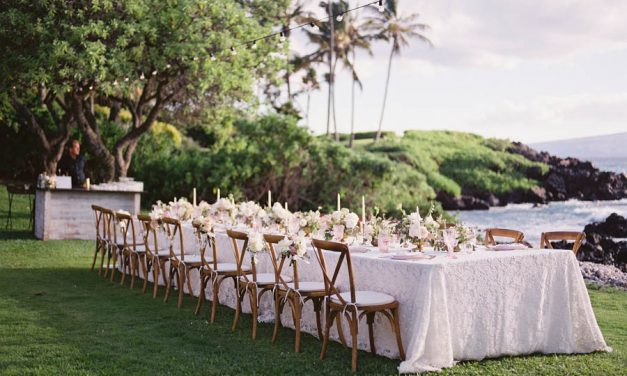 Blush + White Kukahiko Estate Maui Wedding