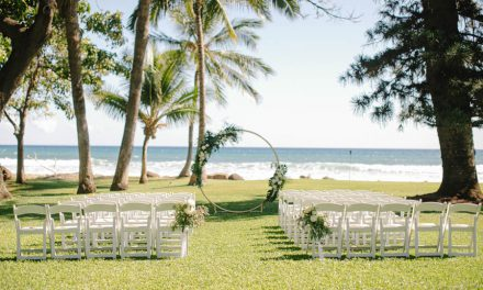 Tropical Greenery Maui Wedding at Olowalu Plantation House