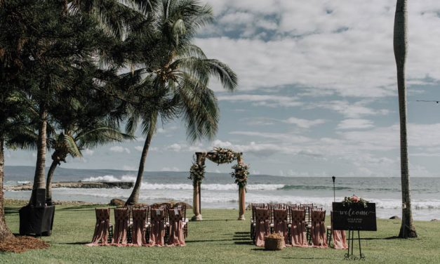 Moody Mauve Maui Wedding – Olowalu Plantation House