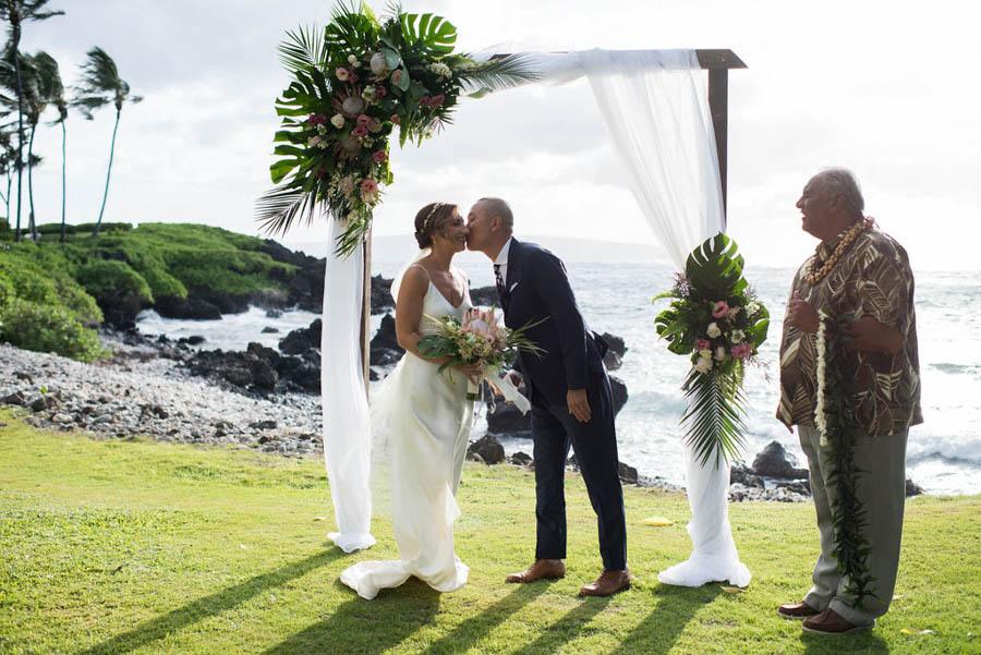 Blush Tropical Maui Wedding at the Kukahiko Estate