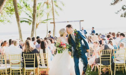 Greenery and Gold Wedding at the Olowalu Plantation House