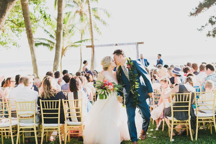 Greenery and Gold Wedding at the Olowalu Plantation House