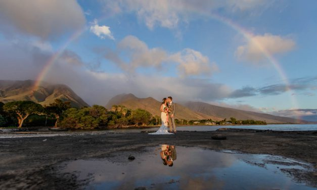 Romantic Rainbow Wedding at the Olowalu Plantation House
