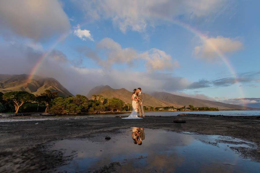 Romantic Rainbow Wedding at the Olowalu Plantation House