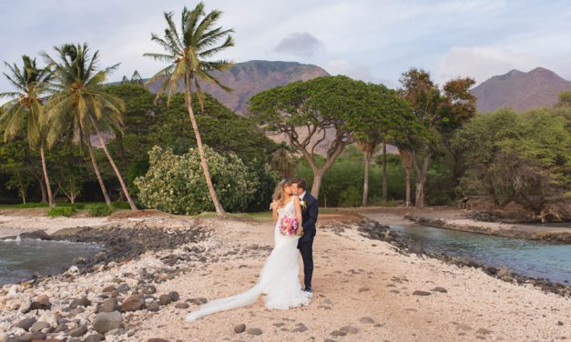 Luxury Lavender + Gold Wedding at the Olowalu Plantation House