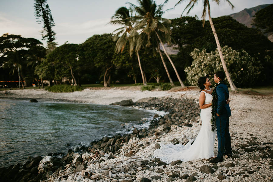 Rustic Peach Wedding at the Olowalu Plantation House