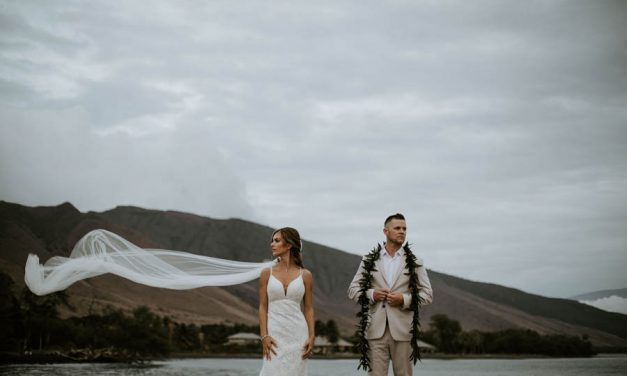 Eucalyptus + White Maui Wedding at the Olowalu Plantation House