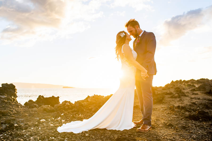 Colorful Maui Wedding at the Kukahiko Estate with Whales!