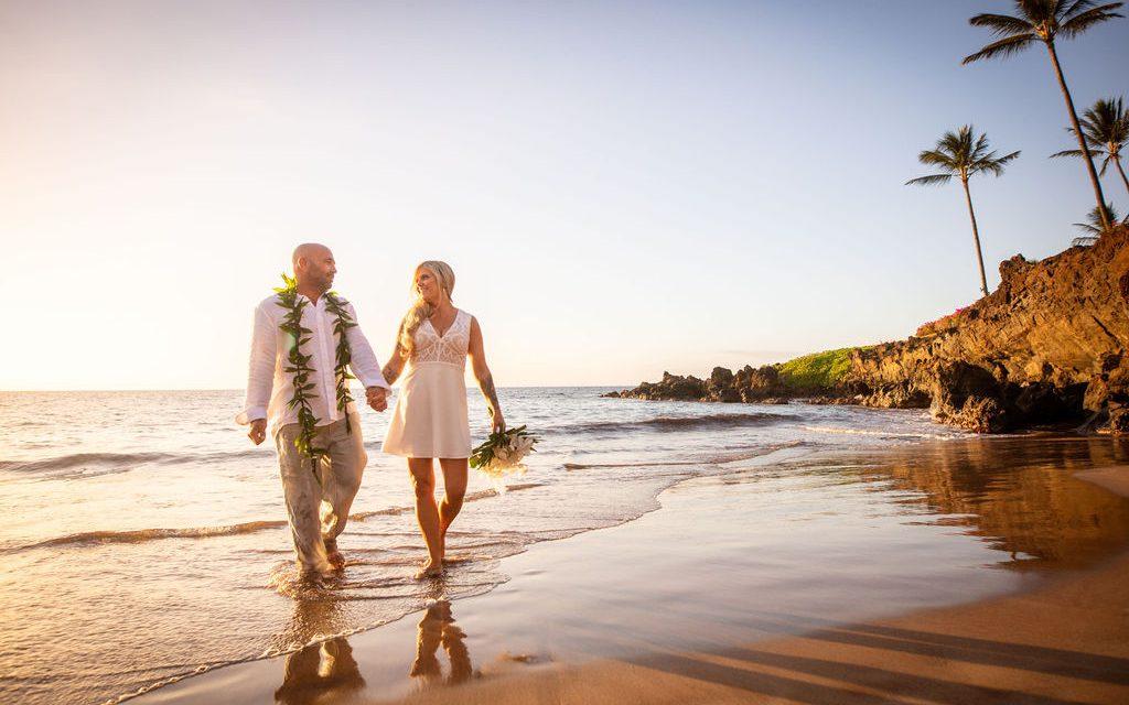 Romantic Beach Elopement in Maui