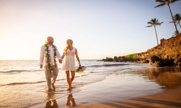 Romantic Beach Elopement in Maui