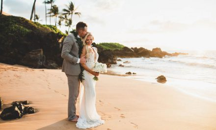 Romantic Winter Beach Elopement on Maui
