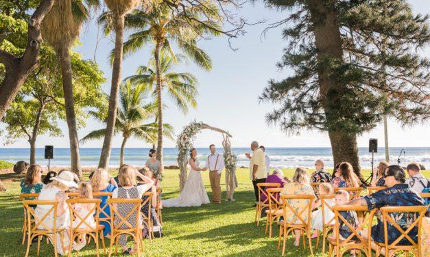 Pretty Pastel Wedding at the Olowalu Plantation House