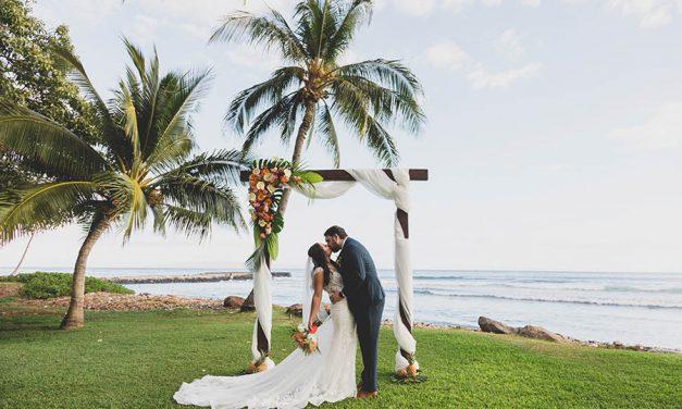 Coral Tropical Maui Wedding at the Olowalu Plantation House
