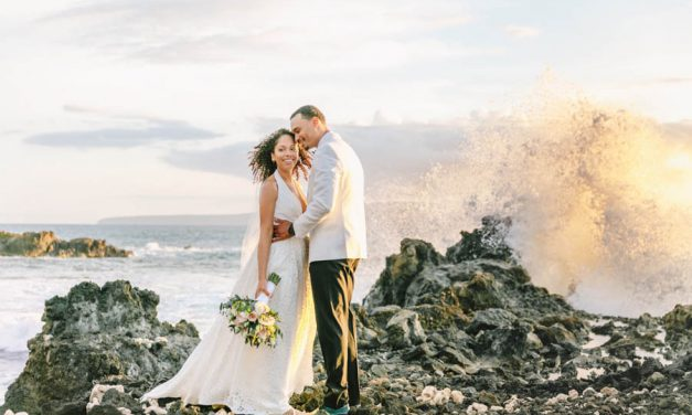 Pretty Peach Maui Wedding at the Kukahiko Estate