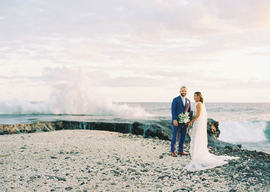 Sweet Destination Wedding in Maui at the Olowalu Plantation House