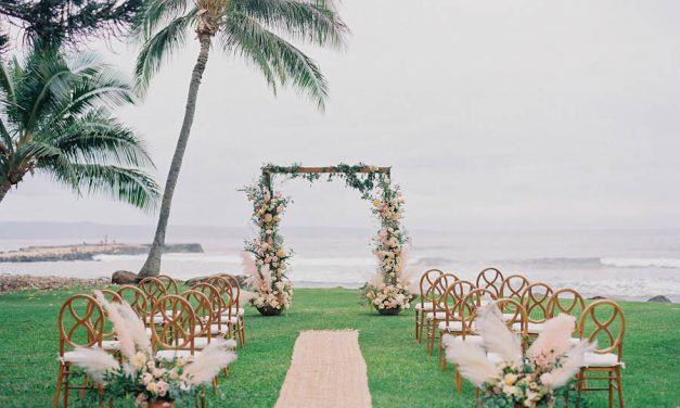 Boho Maui Wedding at the Olowalu Plantation House